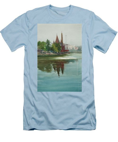 Dhanmondi Lake 04 Men's T-Shirt (Slim Fit) by Helal Uddin