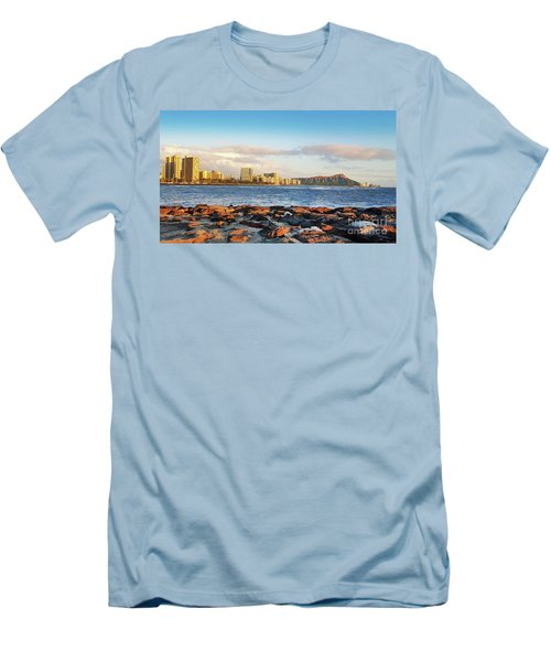 Men's T-Shirt (Slim Fit) featuring the photograph Diamond Head, Waikiki by Kristine Merc