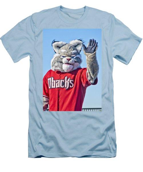 Diamondbacks Mascot Baxter Men's T-Shirt (Athletic Fit)
