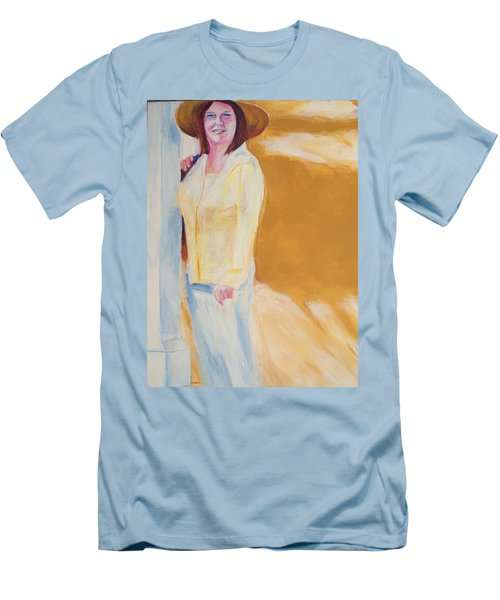 Men's T-Shirt (Slim Fit) featuring the painting Diane by Eric  Schiabor