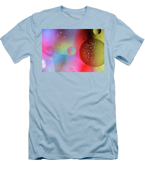 Men's T-Shirt (Athletic Fit) featuring the photograph Digital Oil Drop Abstract by John Williams
