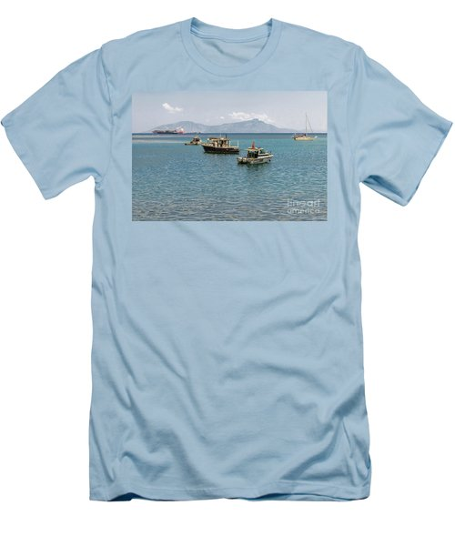 Men's T-Shirt (Athletic Fit) featuring the photograph Dili Harbour 01 by Werner Padarin