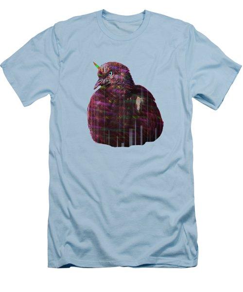 Disco Pigeon Unicorn Men's T-Shirt (Athletic Fit)
