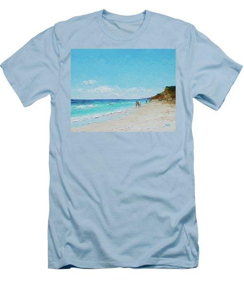Ditch Plains Beach Montauk Hamptons Ny Men's T-Shirt (Athletic Fit)