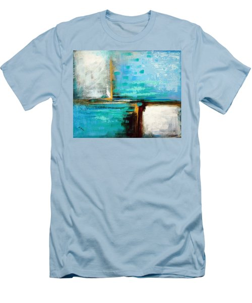 Men's T-Shirt (Slim Fit) featuring the painting Divided Loyalties by Suzanne McKee
