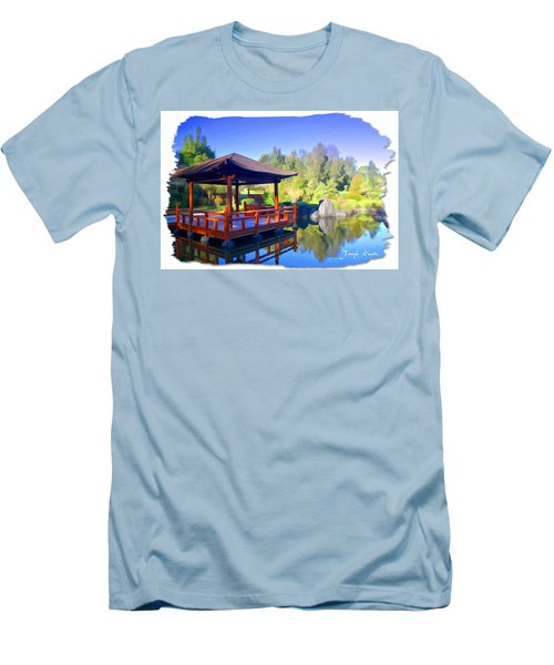 Men's T-Shirt (Slim Fit) featuring the photograph Do-00003 Shinden Style Pavilion by Digital Oil
