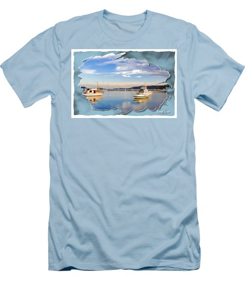 Men's T-Shirt (Athletic Fit) featuring the photograph Do-00115 Boats In Gosford by Digital Oil