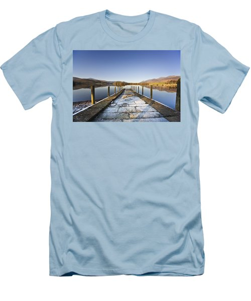 Dock In A Lake, Cumbria, England Men's T-Shirt (Athletic Fit)
