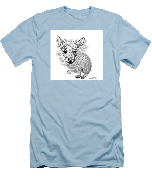 Dog Sketch In Charcoal 3 Men's T-Shirt (Slim Fit) by Ania M Milo