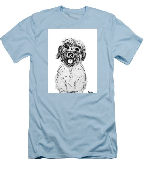 Dog Sketch In Charcoal 6 Men's T-Shirt (Slim Fit) by Ania M Milo