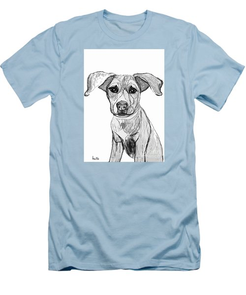Dog Sketch In Charcoal 7 Men's T-Shirt (Slim Fit) by Ania M Milo