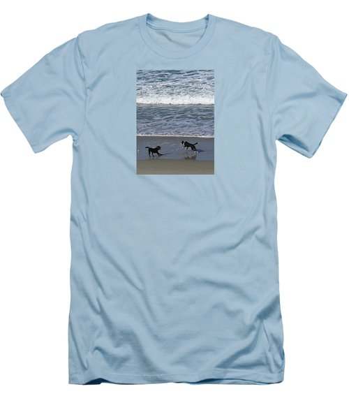 Men's T-Shirt (Athletic Fit) featuring the photograph Doggie Fun by Nareeta Martin