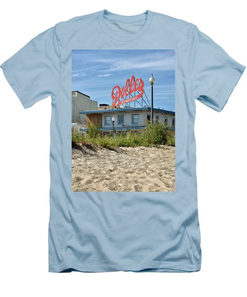 Men's T-Shirt (Slim Fit) featuring the photograph Dolles From The Beach - Rehoboth Beach Delaware by Brendan Reals