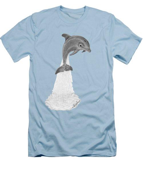 Dolphin #2 Men's T-Shirt (Slim Fit) by Rita Palmer
