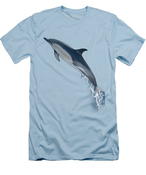 Dolphin Leaping T-shirt Men's T-Shirt (Athletic Fit)