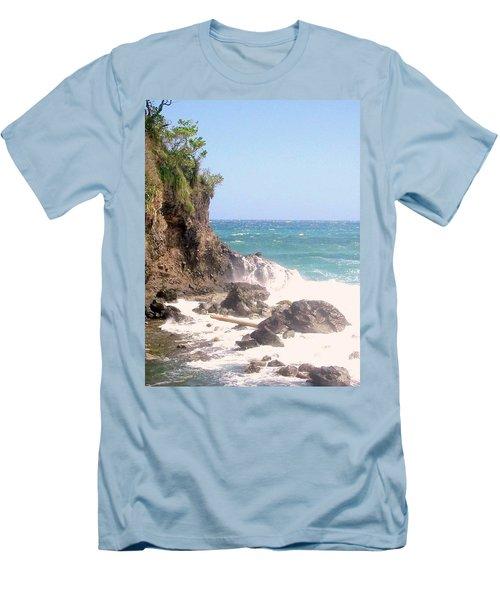 Men's T-Shirt (Slim Fit) featuring the photograph Dominica North Atlantic Coast by Ian  MacDonald