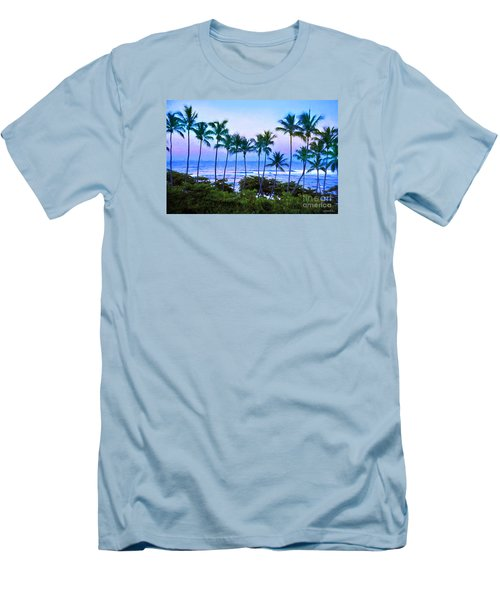 Dominican Palms Twilight Men's T-Shirt (Slim Fit) by Linda Olsen