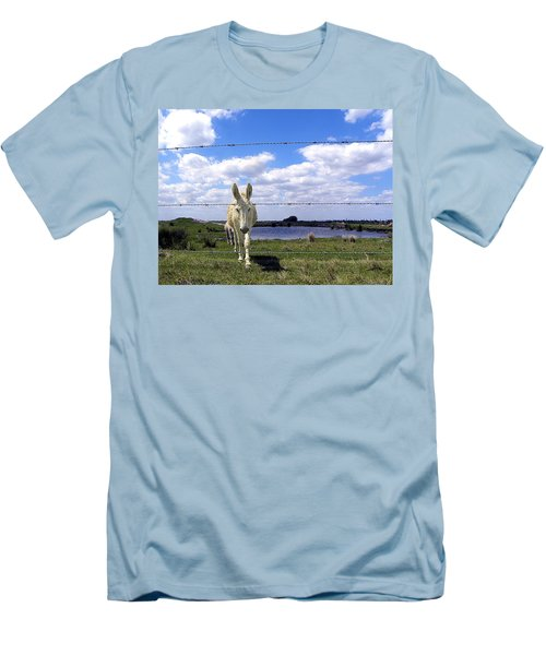 Men's T-Shirt (Slim Fit) featuring the photograph Don't Fence Me In 002 by Chris Mercer