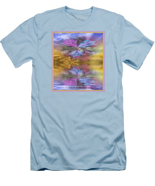 Men's T-Shirt (Slim Fit) featuring the mixed media Dont Go Away by Ray Tapajna