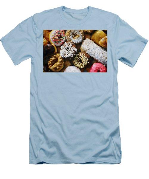 Donuts Men's T-Shirt (Slim Fit) by Vivian Krug Cotton