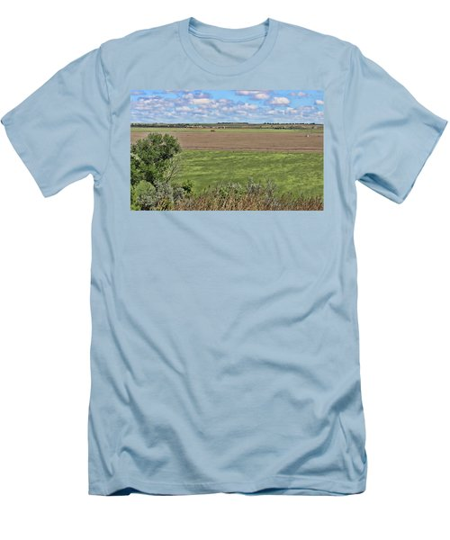 Down In The Valley Men's T-Shirt (Slim Fit) by Sylvia Thornton