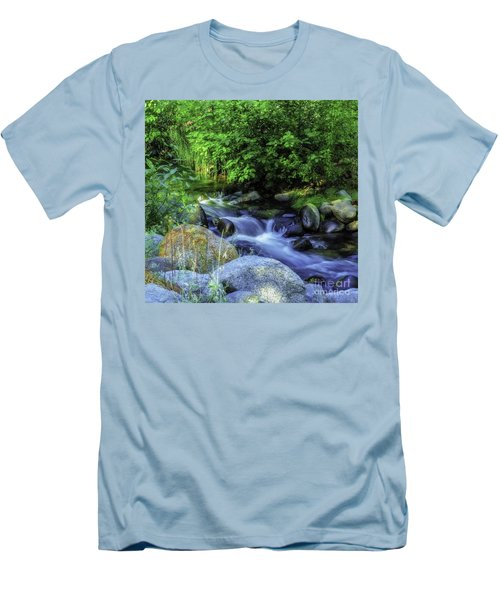 Down Stream Men's T-Shirt (Slim Fit) by Nancy Marie Ricketts