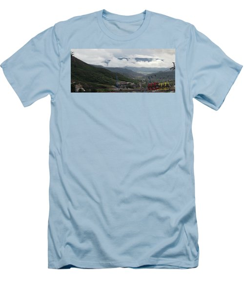 Down The Valley At Snowmass #3 Men's T-Shirt (Slim Fit) by Jerry Battle