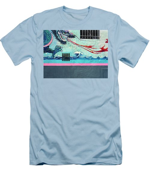 Dragon Breath Men's T-Shirt (Slim Fit) by Jan W Faul