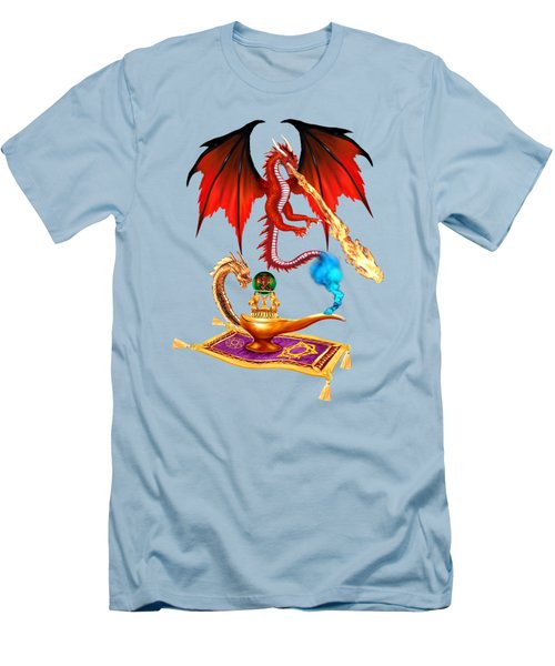 Dragon Genie Men's T-Shirt (Slim Fit) by Glenn Holbrook