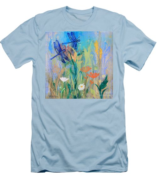 Dragonflies In Wild Garden Men's T-Shirt (Athletic Fit)