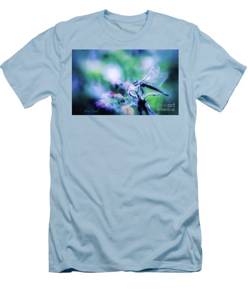 Dragonfly On Lantana-blue Men's T-Shirt (Athletic Fit)