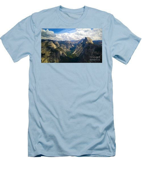 Men's T-Shirt (Slim Fit) featuring the photograph Dramatic Yosemite Half Dome by Debra Thompson