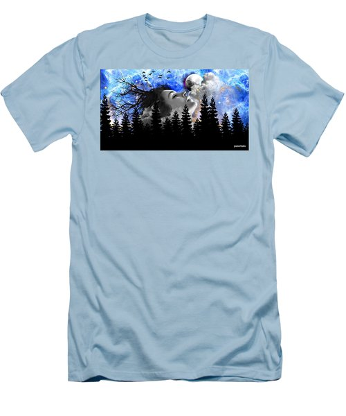 Dream Is The Space To Fly Farther Men's T-Shirt (Athletic Fit)