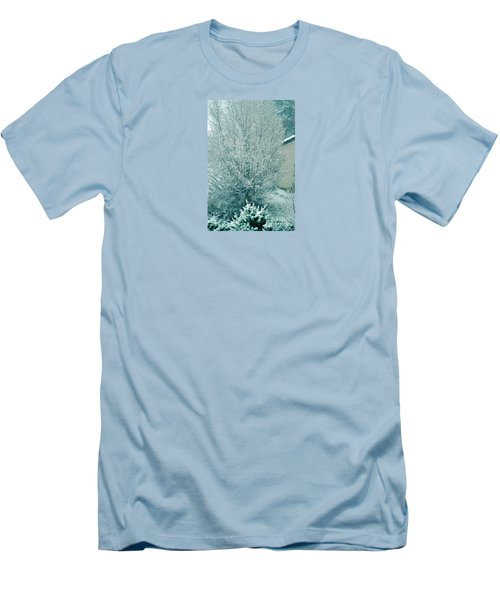 Men's T-Shirt (Slim Fit) featuring the photograph Dreaming Of A White Christmas - Winter In Switzerland by Susanne Van Hulst