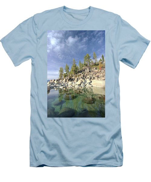 Men's T-Shirt (Athletic Fit) featuring the photograph Dreaming Pond by Sean Sarsfield