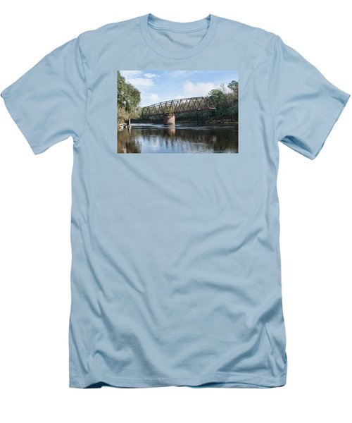 Drew Bridge Men's T-Shirt (Slim Fit) by John Black