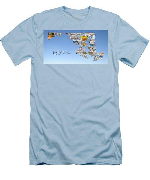 Driving Maryland Men's T-Shirt (Slim Fit) by Jewels Blake Hamrick