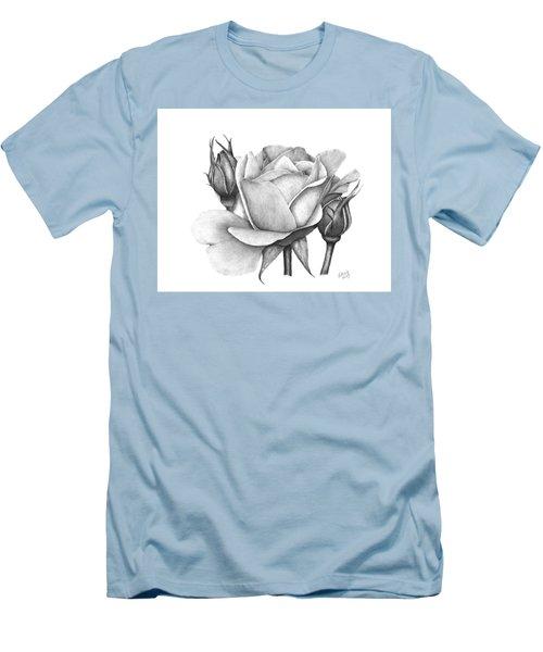 Drum Rose Men's T-Shirt (Athletic Fit)