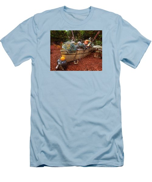Men's T-Shirt (Slim Fit) featuring the photograph Dry Dock Art by Thom Zehrfeld