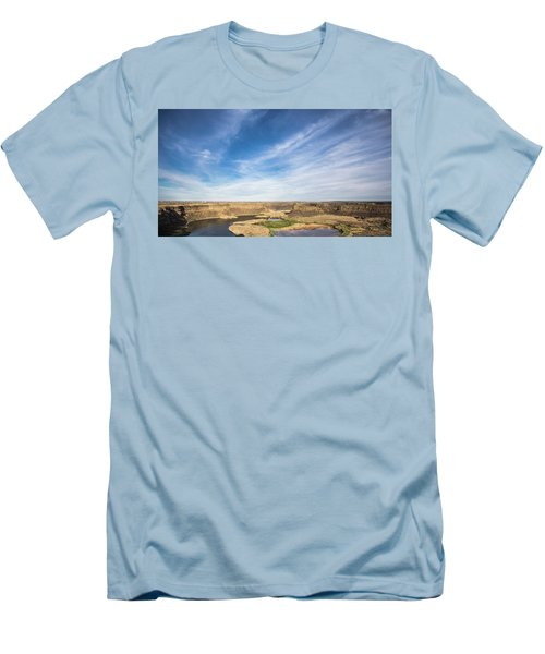 Dry Fall, Washington Men's T-Shirt (Slim Fit) by Jingjits Photography