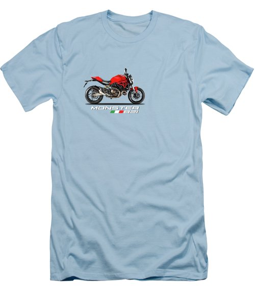 Ducati Monster 821 Men's T-Shirt (Slim Fit) by Mark Rogan