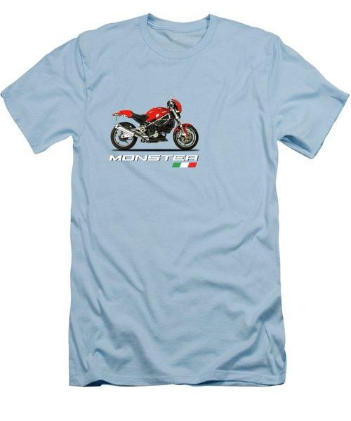 Ducati Monster S4 Sps Men's T-Shirt (Slim Fit) by Mark Rogan