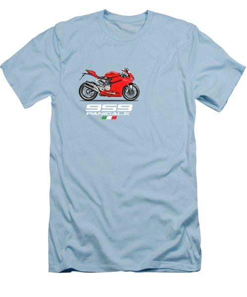 Ducati Panigale 959 Men's T-Shirt (Slim Fit) by Mark Rogan