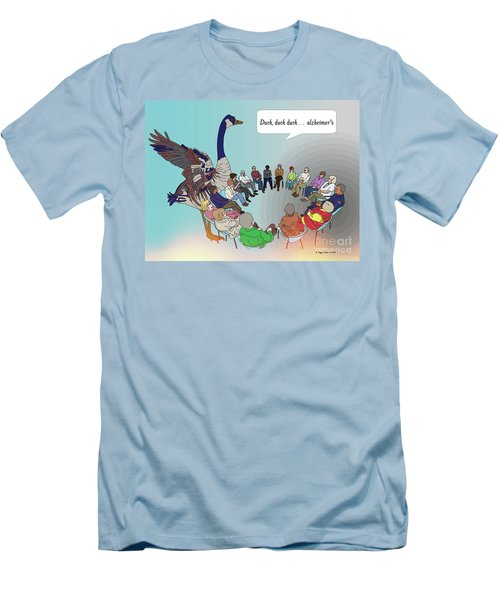 Duck, Duck, Alzheimers Men's T-Shirt (Slim Fit) by Megan Dirsa-DuBois