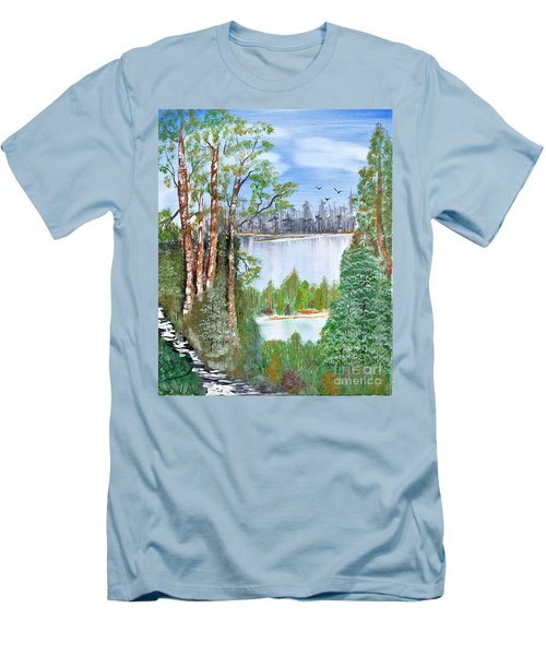 Dueling Lakes Men's T-Shirt (Athletic Fit)