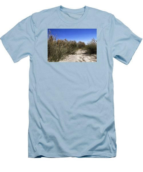 Dune Grasses Men's T-Shirt (Slim Fit) by Shirley Mitchell