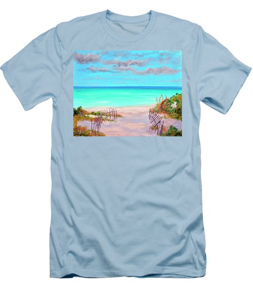 Dunes Beach 2 Men's T-Shirt (Athletic Fit)