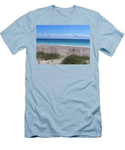 Men's T-Shirt (Slim Fit) featuring the photograph Dunes On The Outerbanks by Sandi OReilly