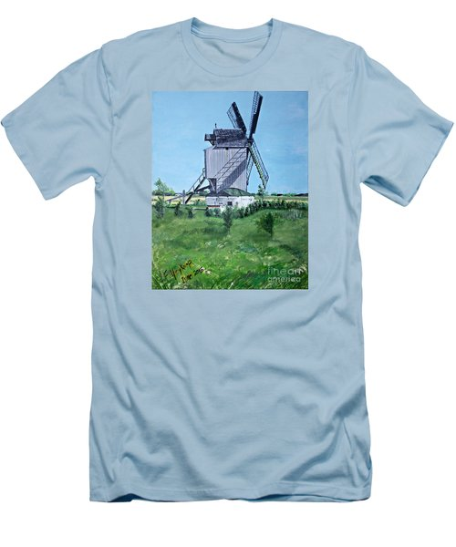 Dunkerque Windmill North Of France Men's T-Shirt (Athletic Fit)