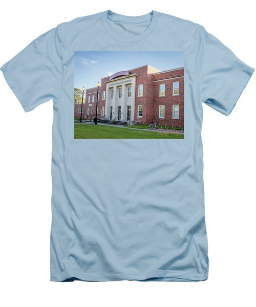 E K Long Building Men's T-Shirt (Slim Fit) by Gregory Daley  PPSA